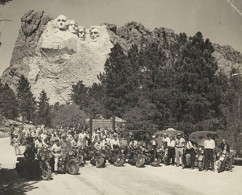 Jackpine Gypsies at Mt Rushmore - 1940's