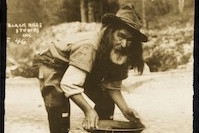 Panning for gold while at the Sturgis Rally