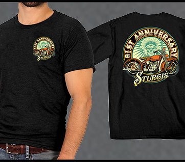A. Sturgis 81st Anniversary Motorcycle Rally T-Shirt
