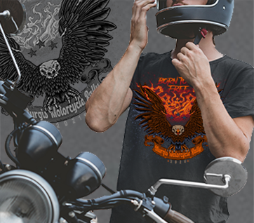 A. 2021 Born To Be Free Eagle Sturgis Motorcycle Rally T-Shirt
