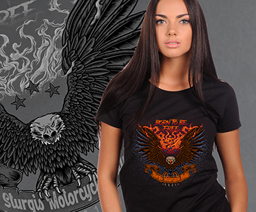 A. 2021 WOMANS BORN TO BE FREE EAGLE STURGIS RALLY T-SHIRT